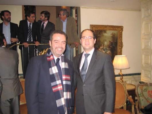 Antonio Álvarez-Ossorio con Fernando Navarrete, Director de FAES